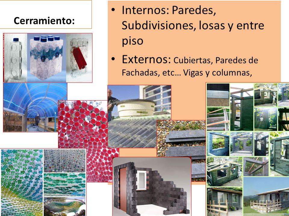 Internos: Paredes, Subdivisiones, losas y entre piso