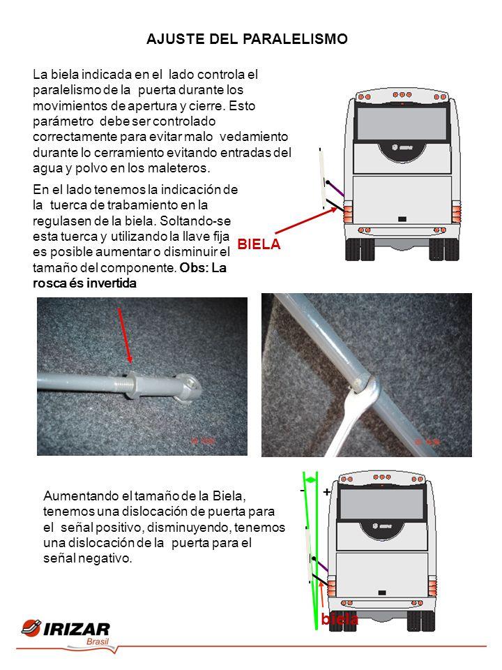 - + biela AJUSTE DEL PARALELISMO BIELA