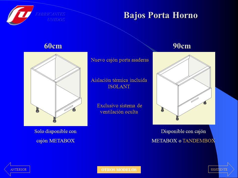 Bajos Porta Horno 60cm 90cm Nuevo cajón porta asaderas