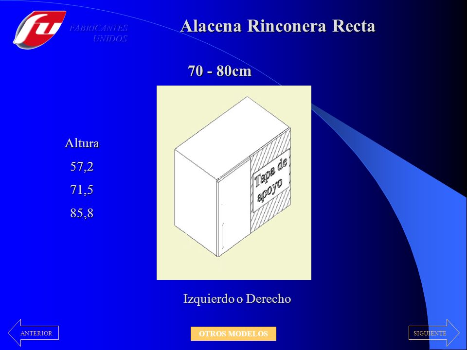 Alacena Rinconera Recta