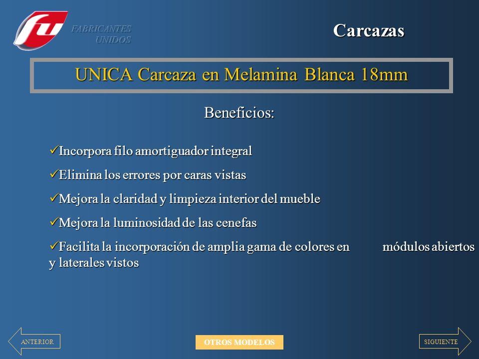 UNICA Carcaza en Melamina Blanca 18mm