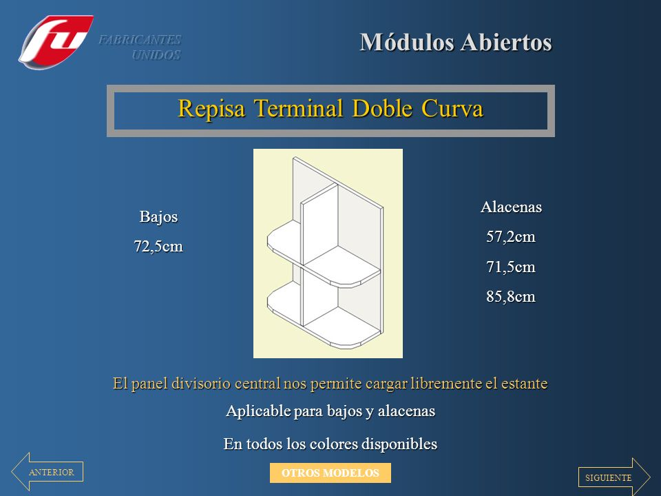 Repisa Terminal Doble Curva