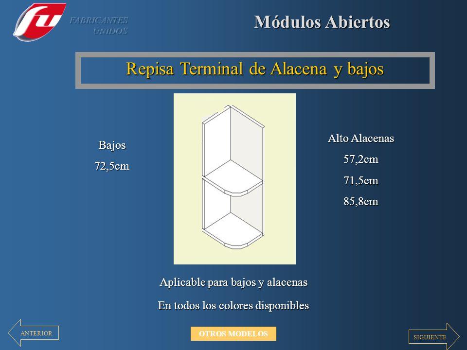 Repisa Terminal de Alacena y bajos