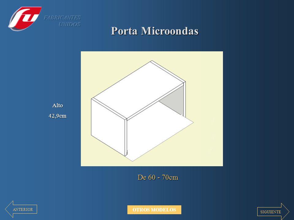 Porta Microondas De 60 - 70cm FABRICANTES UNIDOS Alto 42,9cm