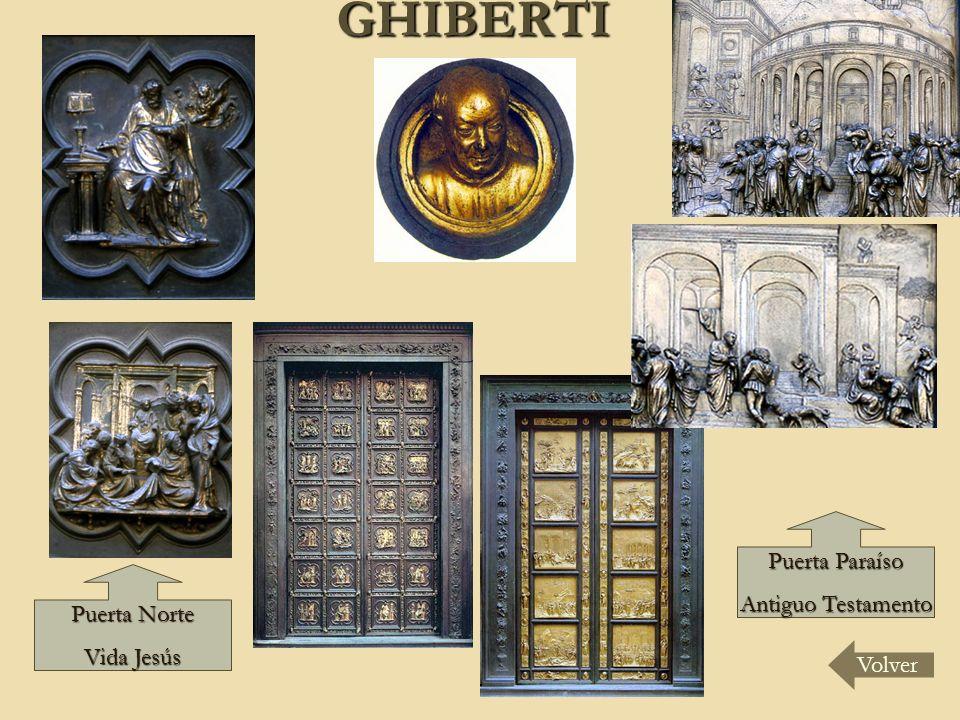 GHIBERTI Puerta Paraíso Antiguo Testamento Puerta Norte Vida Jesús