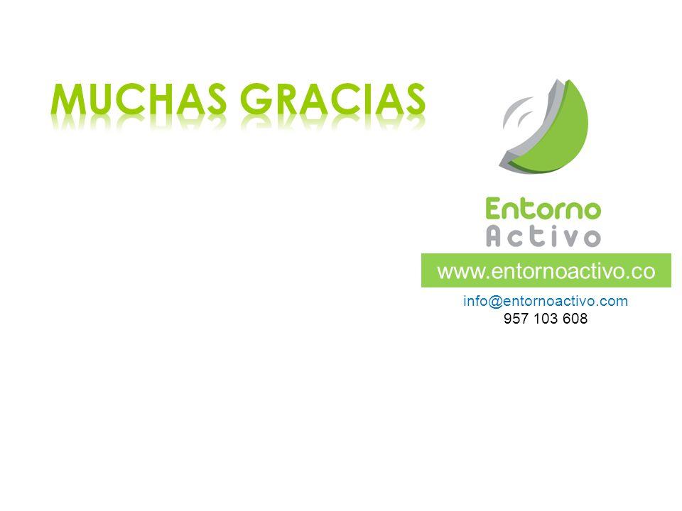 MUCHAS GRACIAS www.entornoactivo.com info@entornoactivo.com