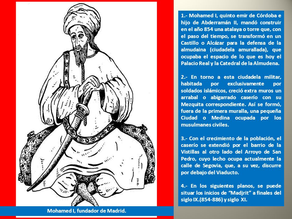 Mohamed I, fundador de Madrid.