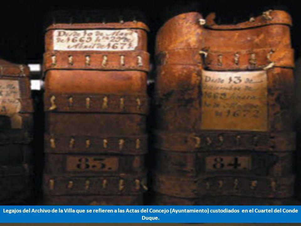 Legajos del Archivo de la Villa que se refieren a las Actas del Concejo (Ayuntamiento) custodiados en el Cuartel del Conde Duque.