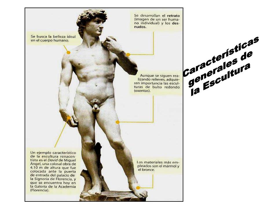 Características generales de la Escultura