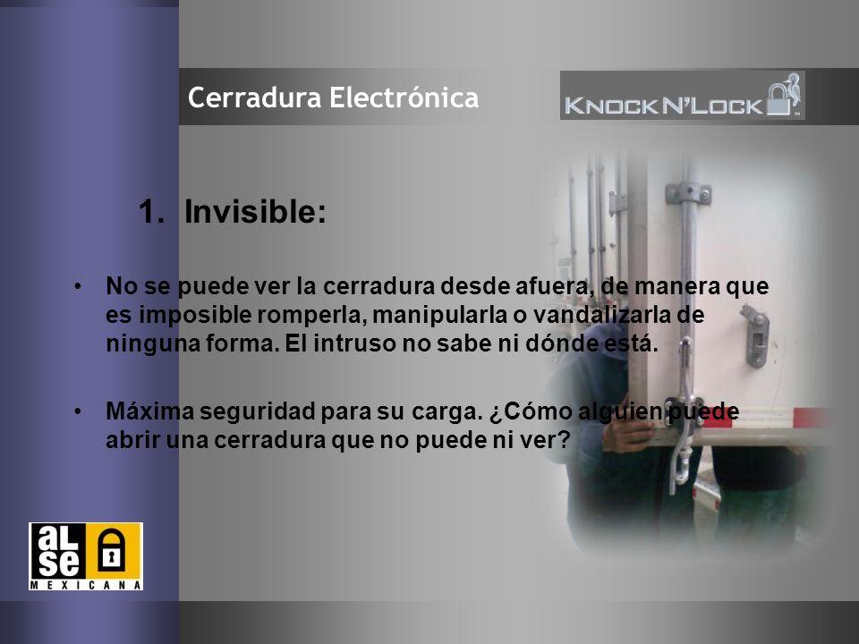 1. Invisible: Cerradura Electrónica