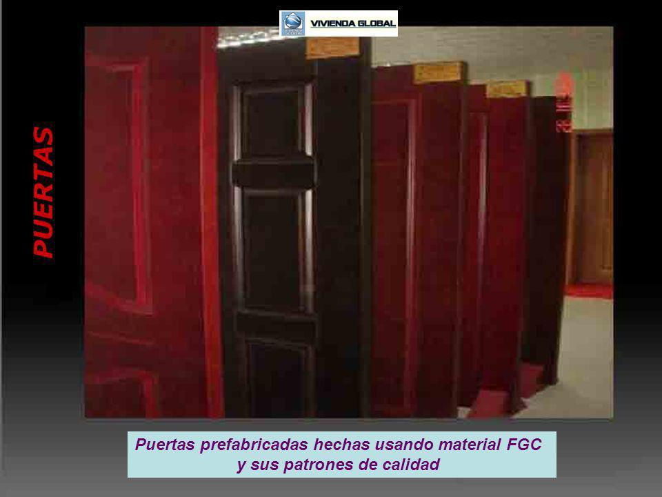 Puertas prefabricadas hechas usando material FGC