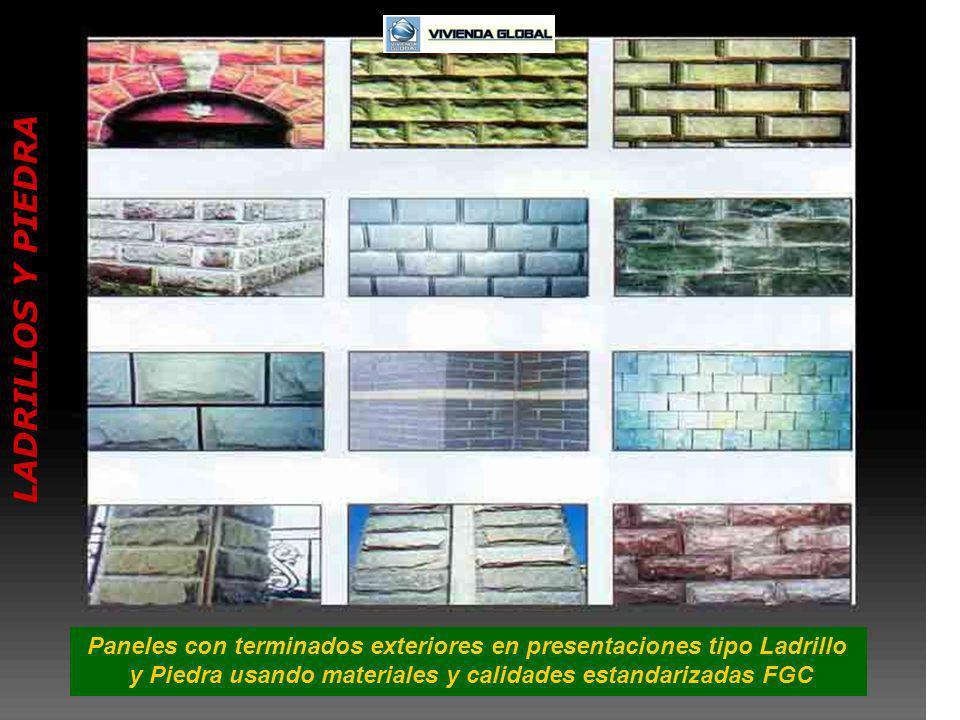 Paneles con terminados exteriores en presentaciones tipo Ladrillo