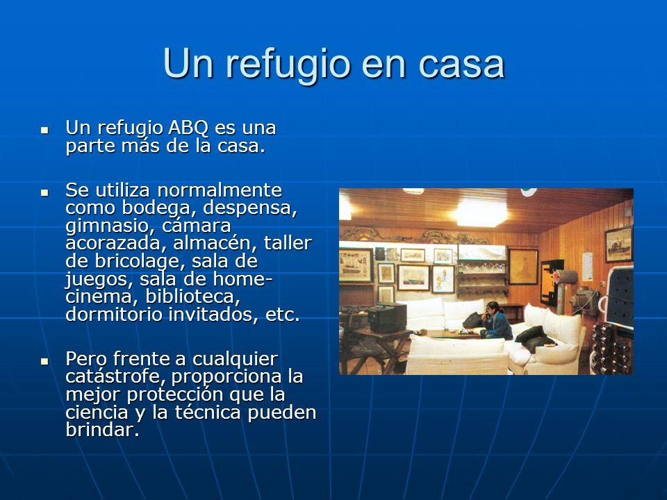 Un refugio en casa Un refugio ABQ es una parte más de la casa.
