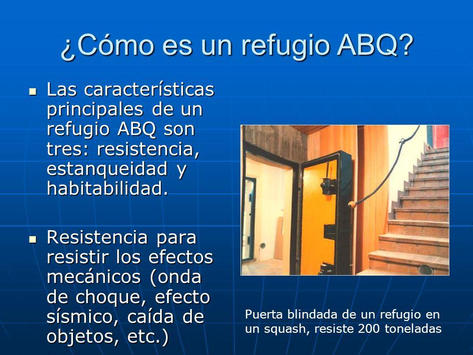 ¿Cómo es un refugio ABQ Las características principales de un refugio ABQ son tres: resistencia, estanqueidad y habitabilidad.