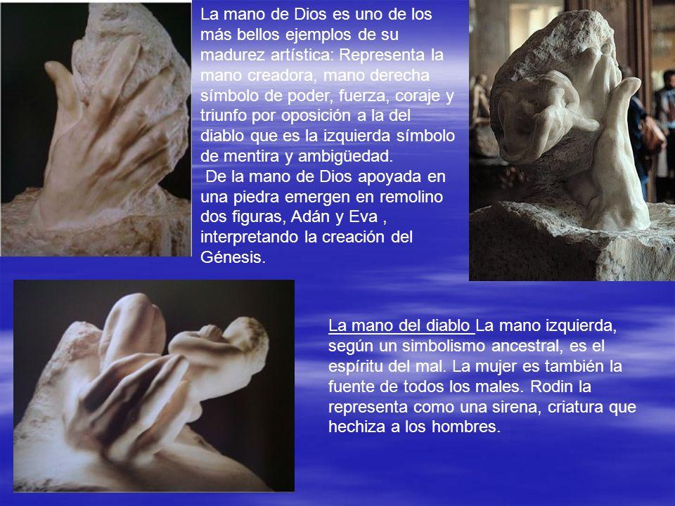 La mano de Dios es uno de los más bellos ejemplos de su madurez artística: Representa la mano creadora, mano derecha símbolo de poder, fuerza, coraje y triunfo por oposición a la del diablo que es la izquierda símbolo de mentira y ambigüedad.