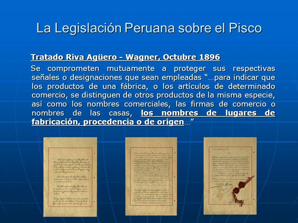 La Legislación Peruana sobre el Pisco