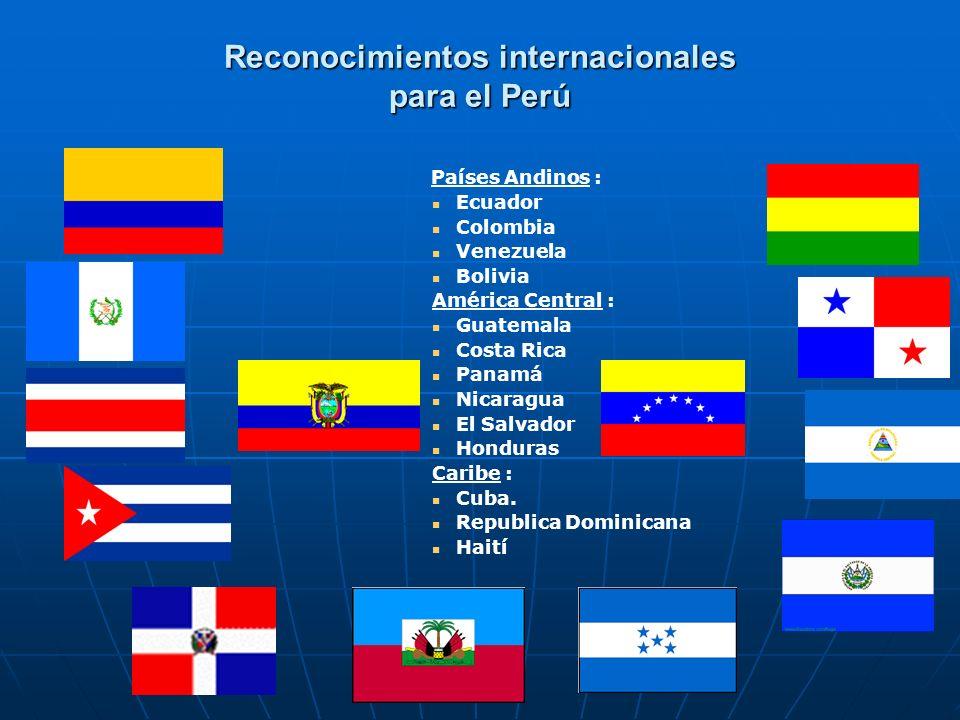 Reconocimientos internacionales para el Perú