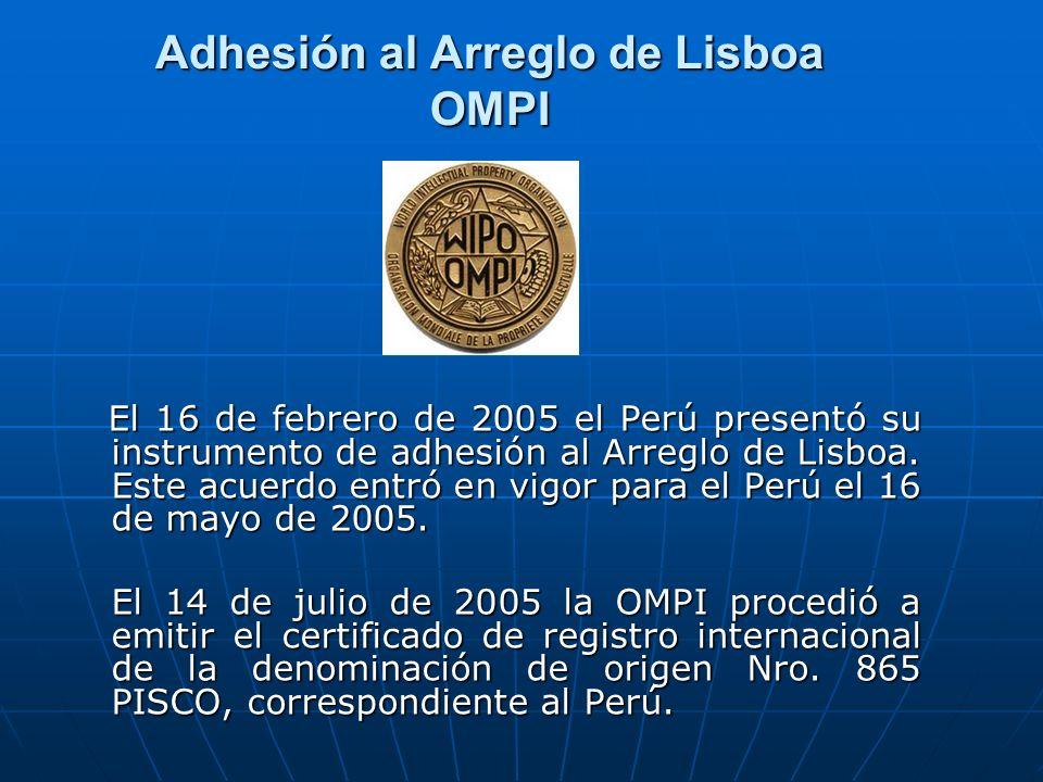Adhesión al Arreglo de Lisboa OMPI