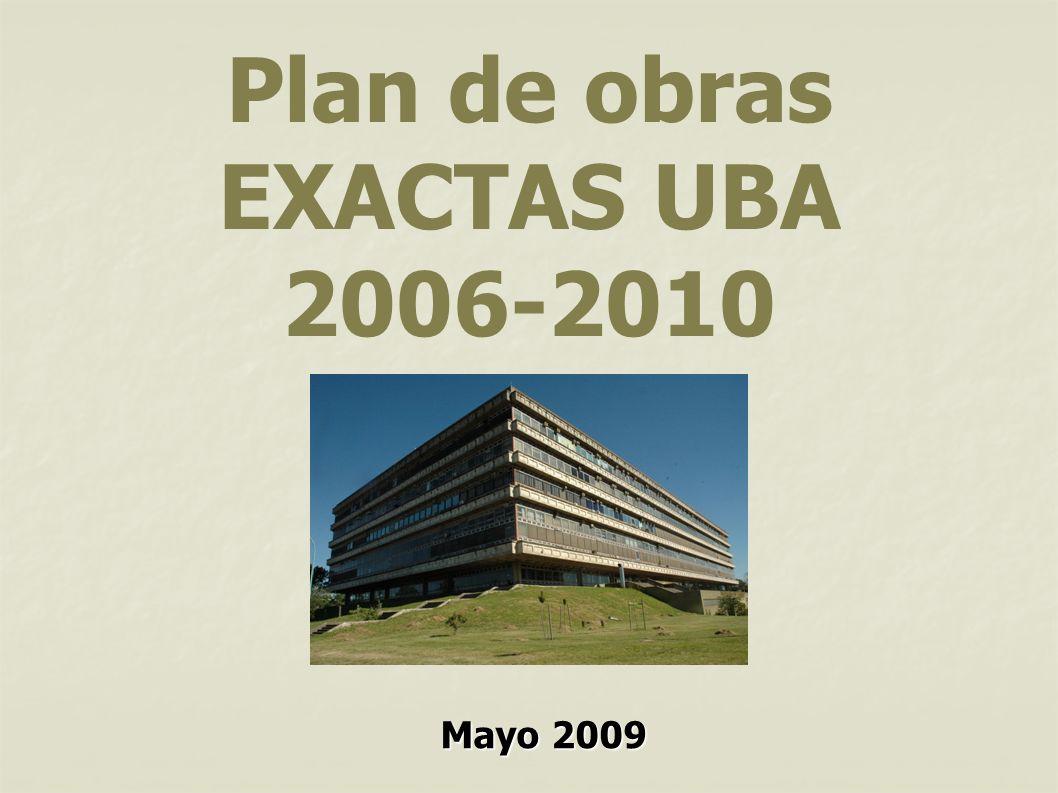 Plan de obras EXACTAS UBA 2006-2010