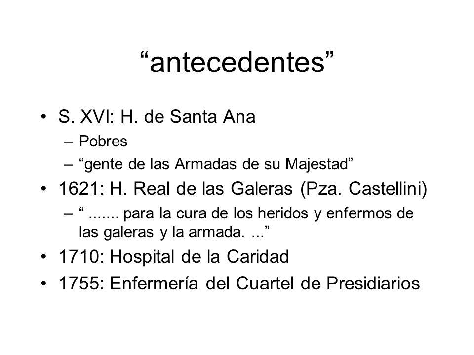 antecedentes S. XVI: H. de Santa Ana