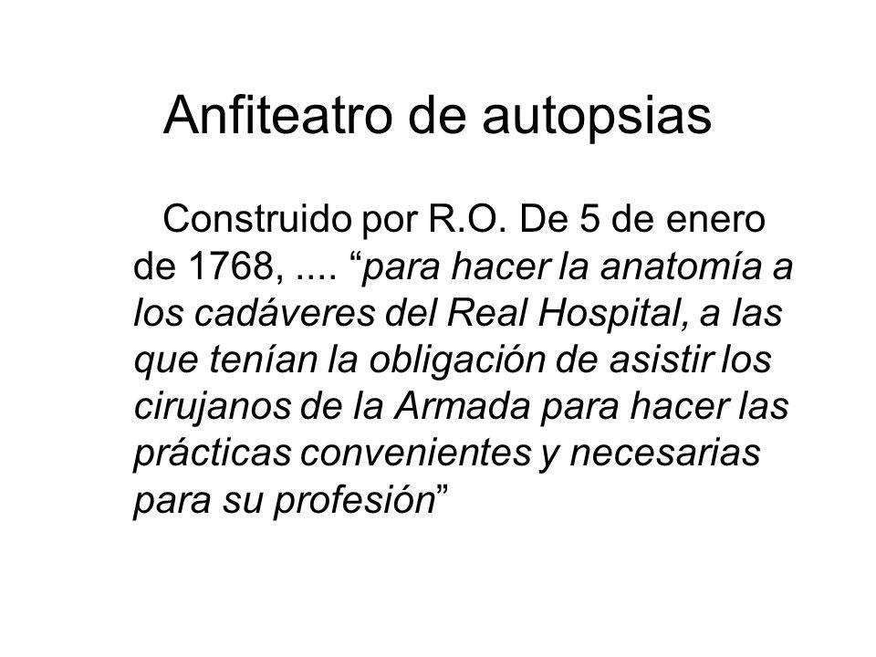 Anfiteatro de autopsias