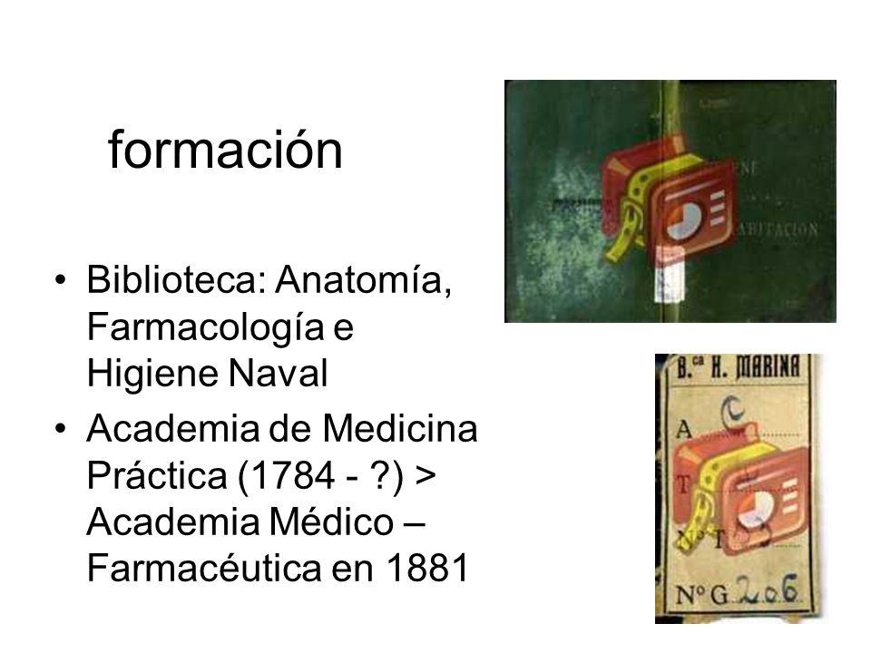 formación Biblioteca: Anatomía, Farmacología e Higiene Naval