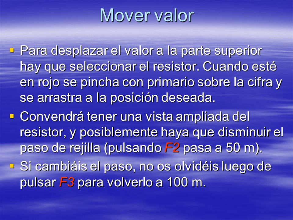 Mover valor