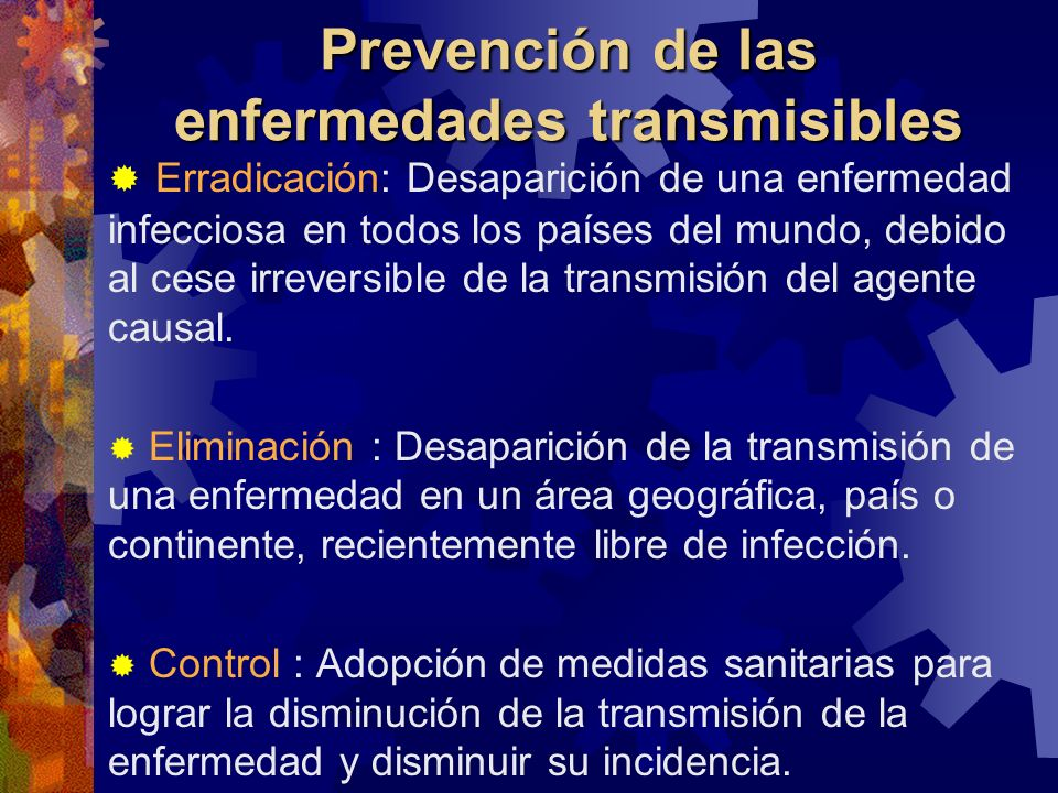 Prevención de las enfermedades transmisibles