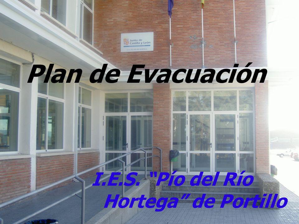 Plan de Evacuación I.E.S. Pío del Río Hortega de Portillo
