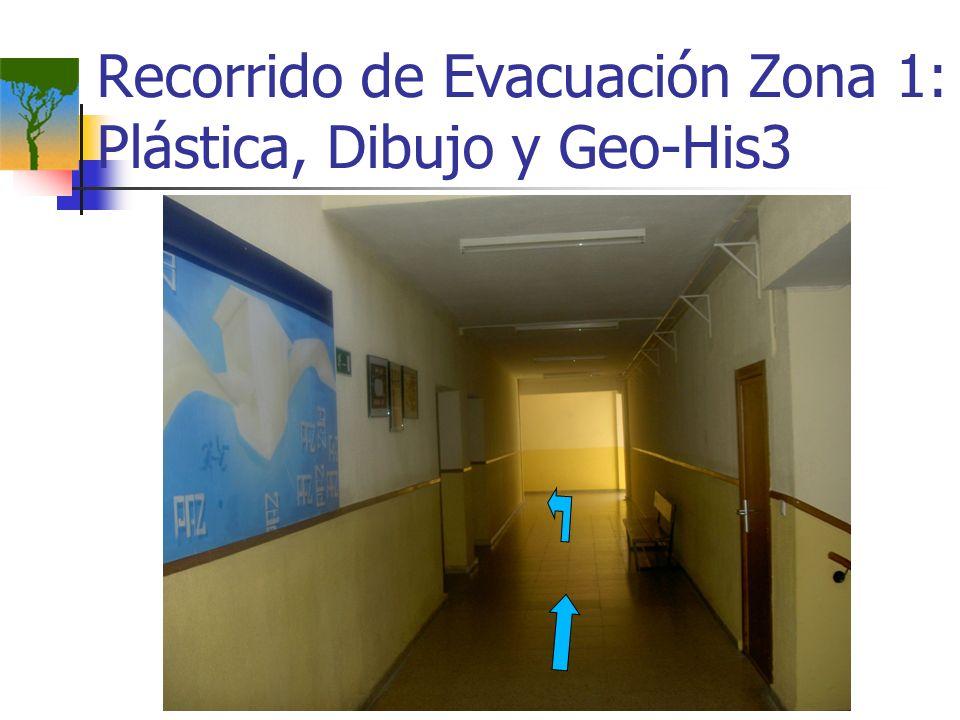 Recorrido de Evacuación Zona 1: Plástica, Dibujo y Geo-His3
