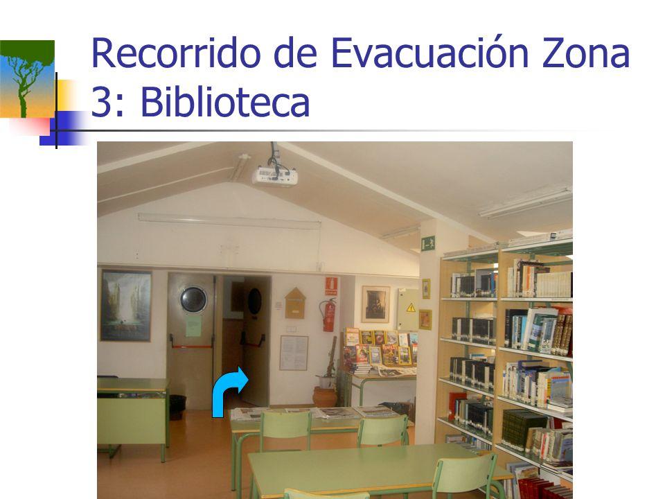 Recorrido de Evacuación Zona 3: Biblioteca