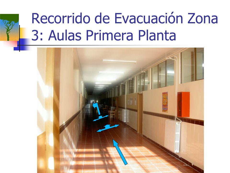 Recorrido de Evacuación Zona 3: Aulas Primera Planta