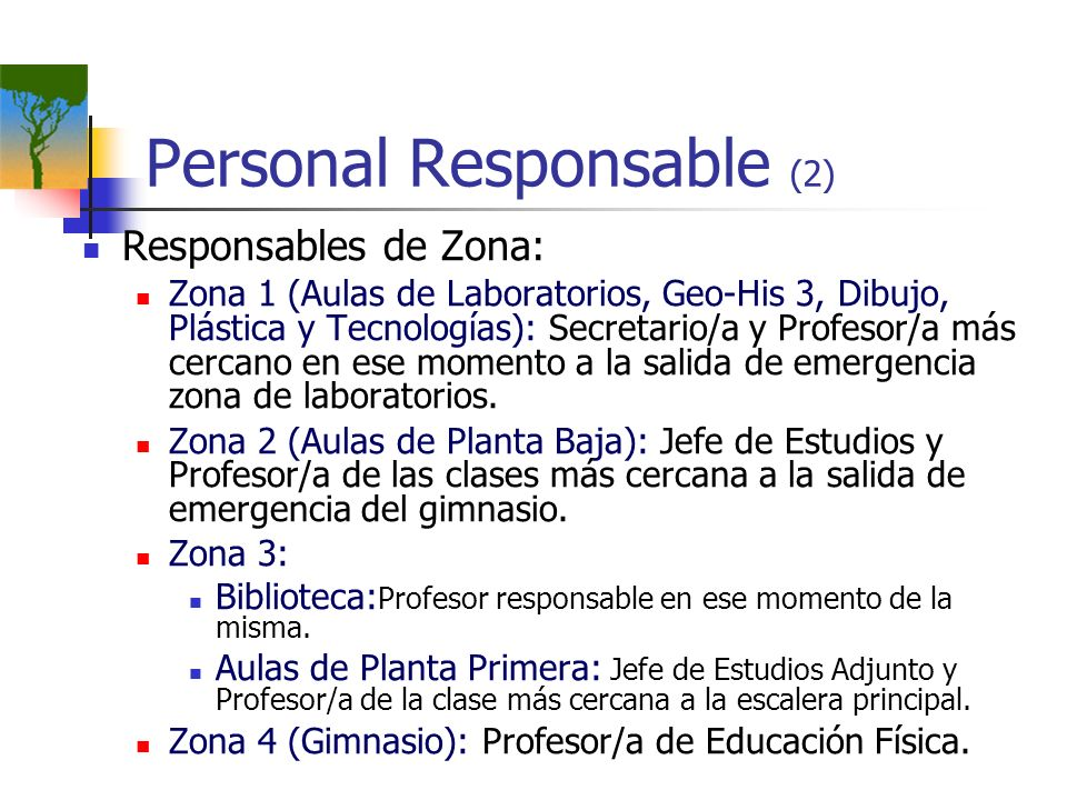 Personal Responsable (2)