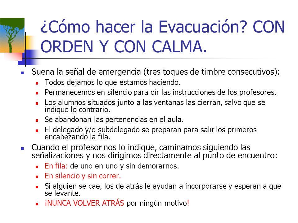 ¿Cómo hacer la Evacuación CON ORDEN Y CON CALMA.