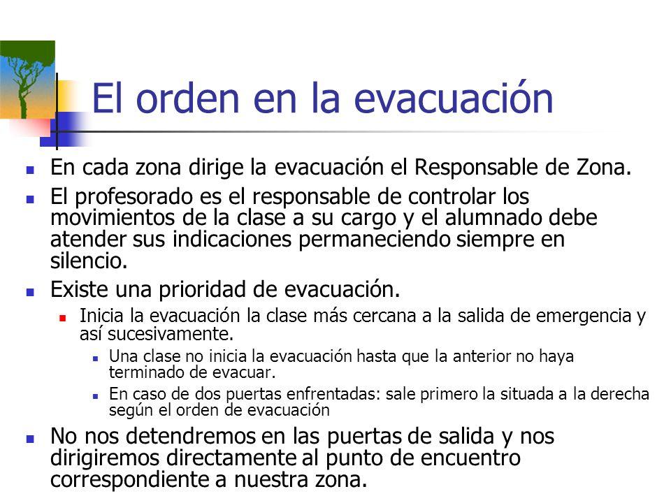 El orden en la evacuación
