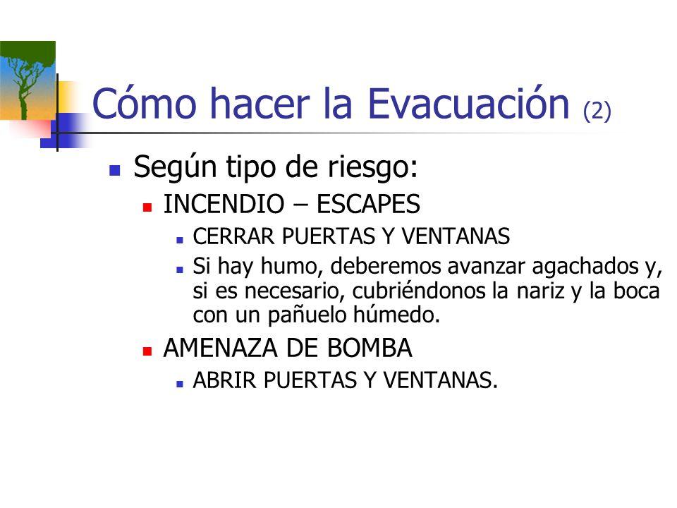Cómo hacer la Evacuación (2)