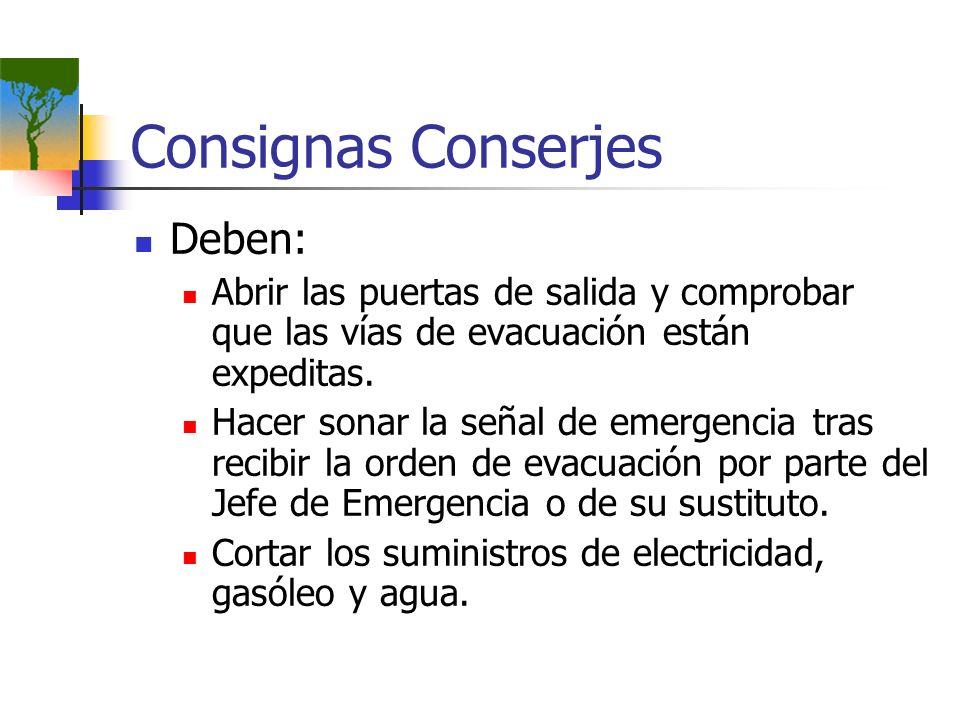 Consignas Conserjes Deben:
