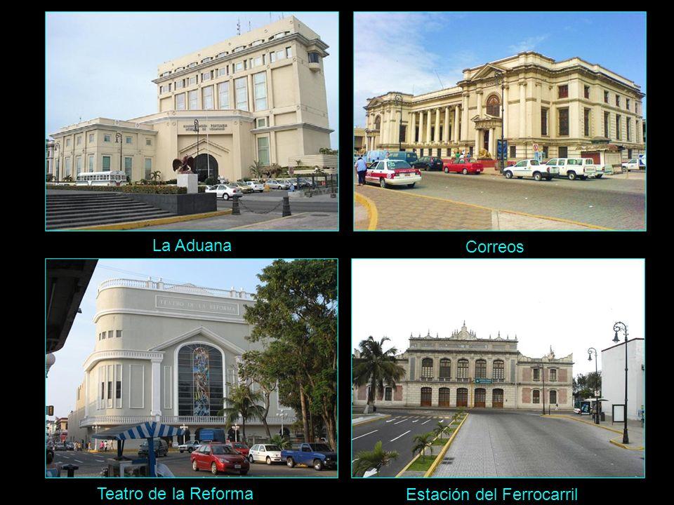 La Aduana Correos Teatro de la Reforma Estación del Ferrocarril