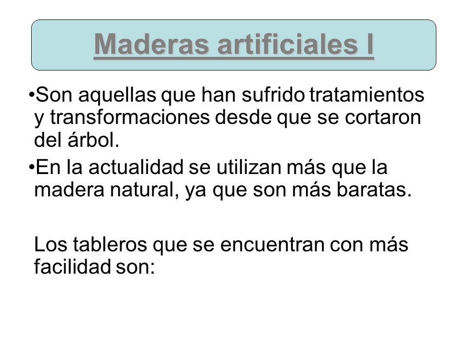 Maderas artificiales I