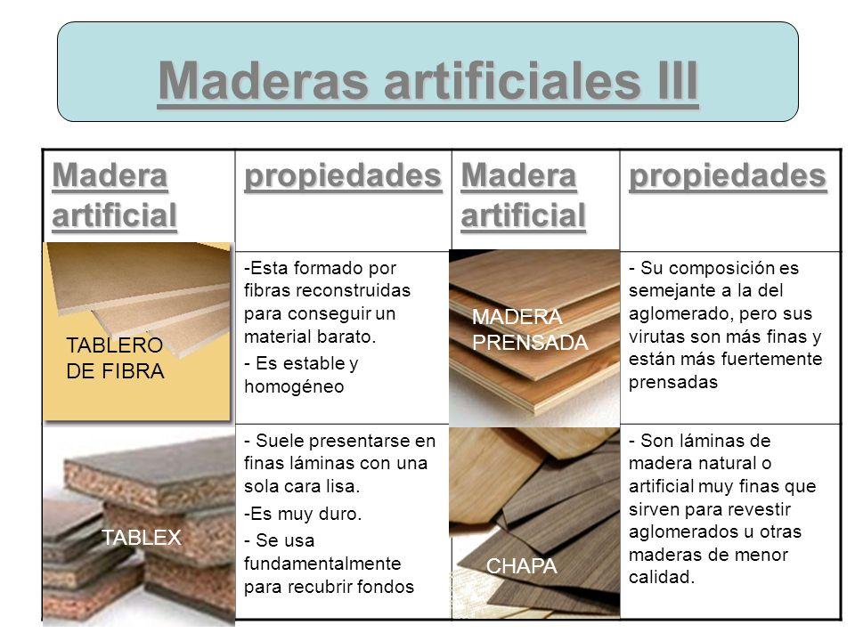 Maderas artificiales III