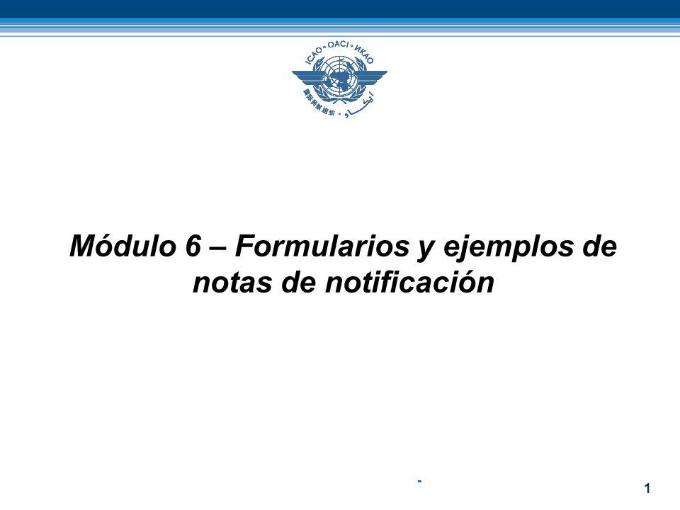 Módulo 6 – Formularios y ejemplos de notas de notificación
