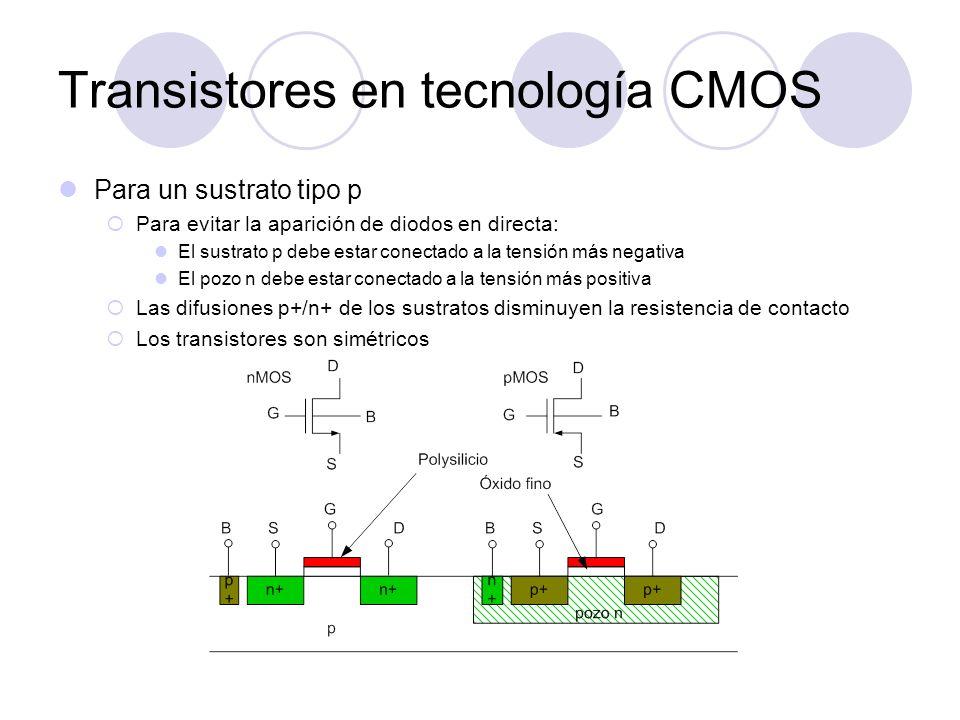 Transistores en tecnología CMOS