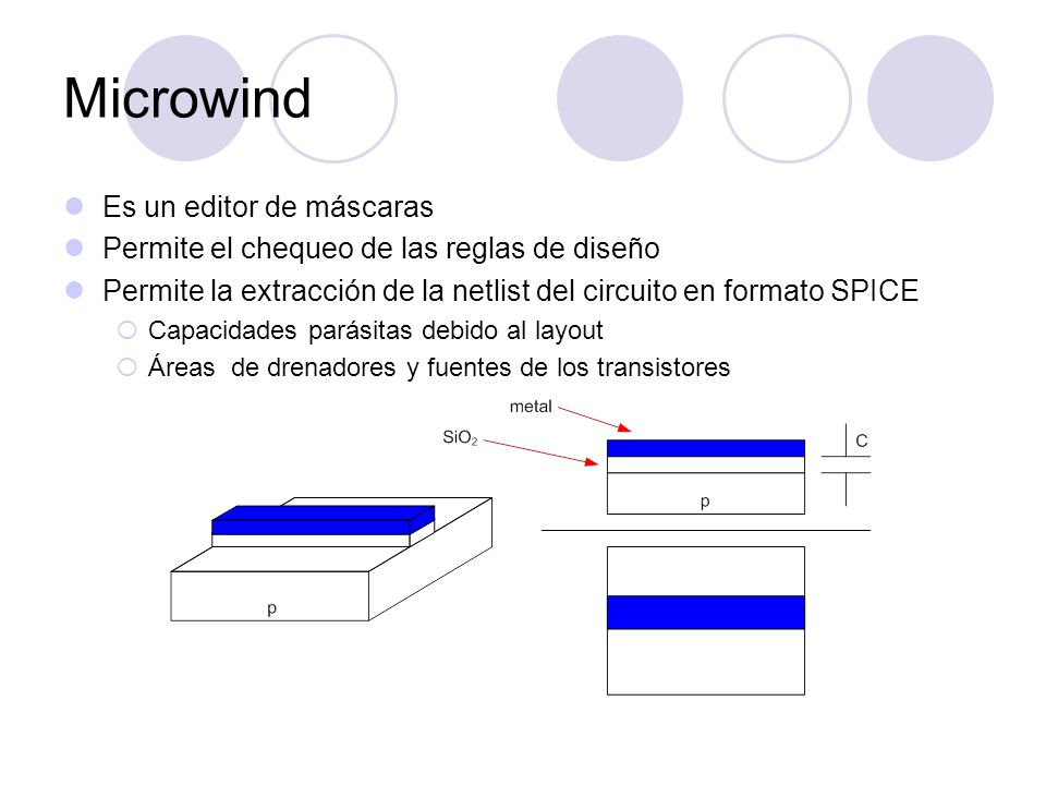 Microwind Es un editor de máscaras