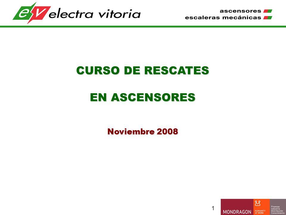 CURSO DE RESCATES EN ASCENSORES