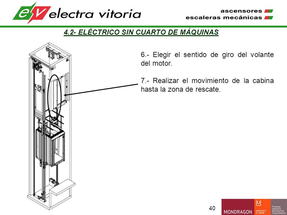 4.2- ELÉCTRICO SIN CUARTO DE MÁQUINAS