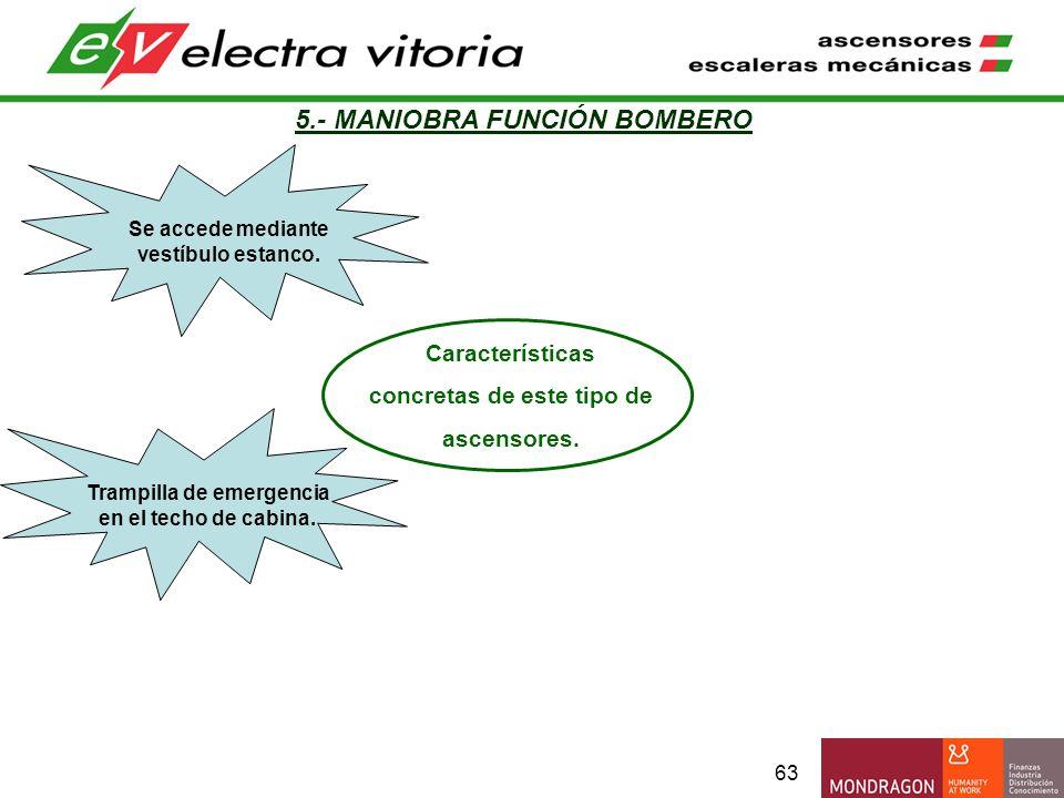 5.- MANIOBRA FUNCIÓN BOMBERO