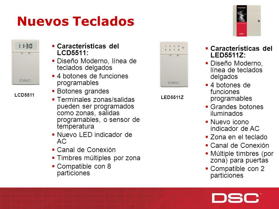 Nuevos Teclados Características del LCD5511: