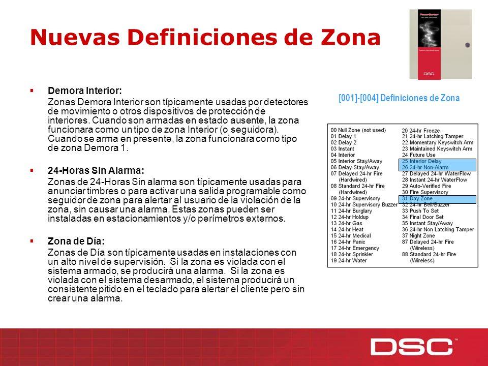 Nuevas Definiciones de Zona