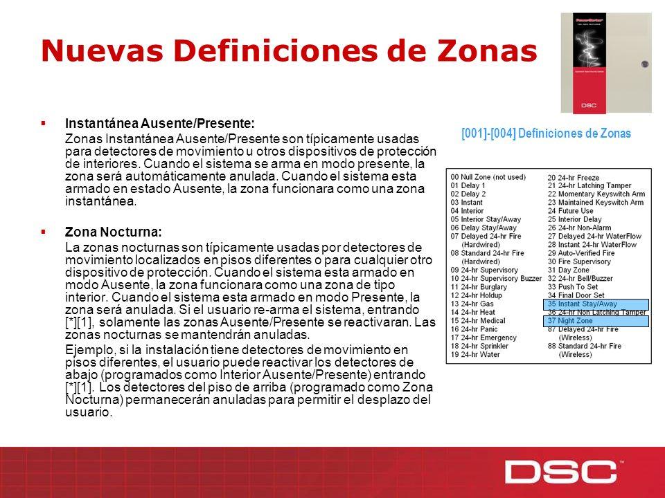 Nuevas Definiciones de Zonas