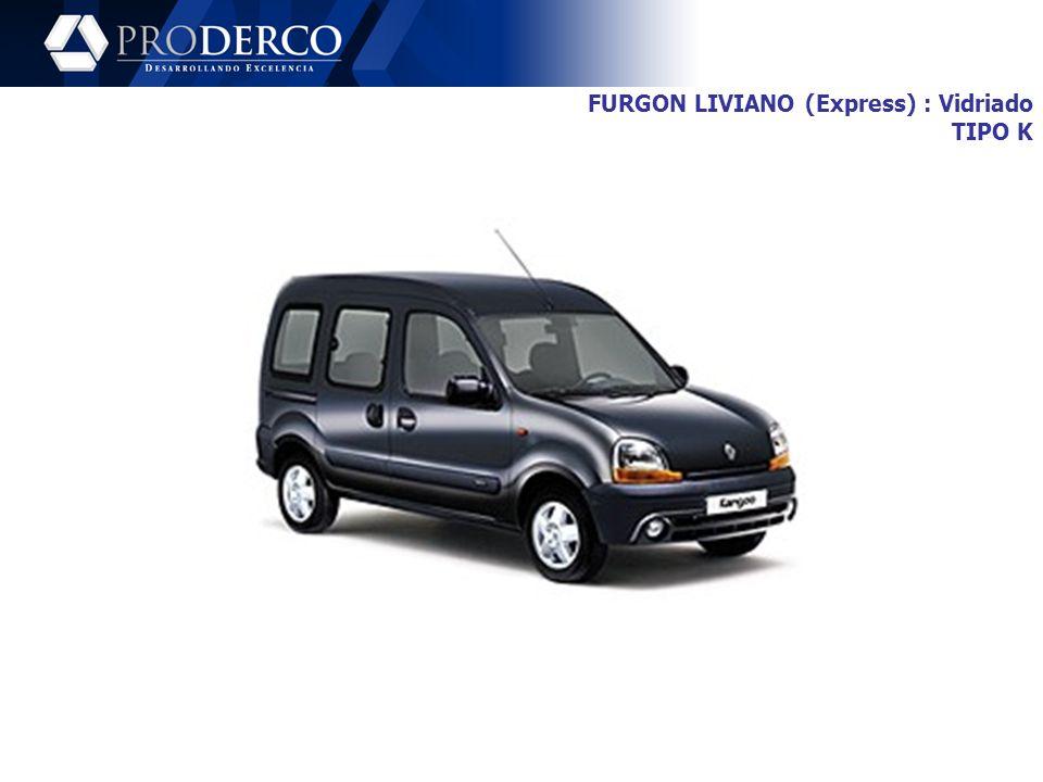 FURGON LIVIANO (Express) : Vidriado TIPO K